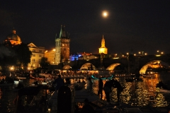 night out on the Vltava River in Prague