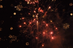 fireworks on the river Vltava in the Czech Republic